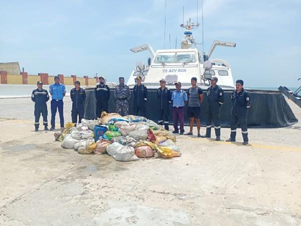 Indian Coast Guard seizes two tonnes of sea cucumber worth Rs 8 cr in TN's Mandapam