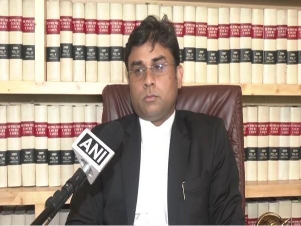 Nitesh Rana, the lawyer of Prince Raj Paswan. (Photo/ANI)