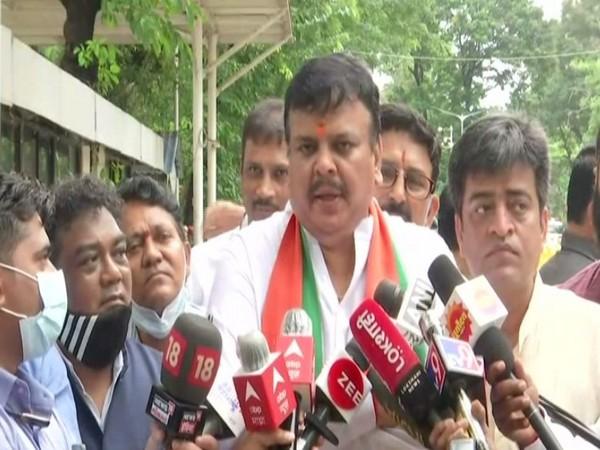 BJP leader and Mumbai unit general secretary Sanjay Upadhyay. (Photo/ANI)