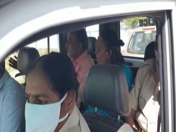 Both accused seen taken to Madanapalle police station. (Photo/ANI)