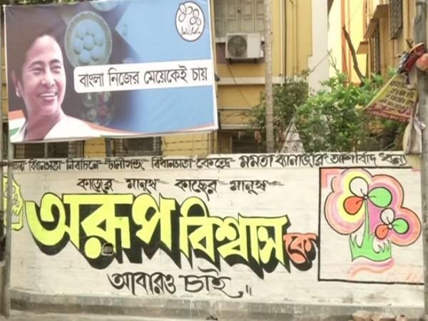 TMC poll campaign in Kolkata streets (Photo/ANI)