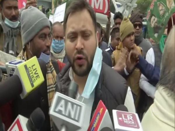Rashtriya Janata Dal leader Tejashwi Yadav in Patna