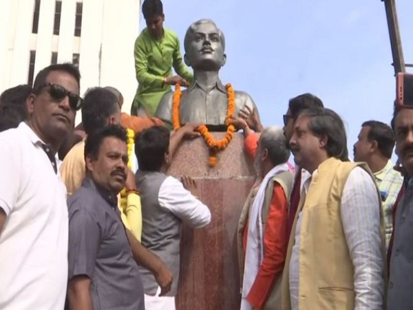 BJP workers installed Chandrashekhar Azad' bust (Photo/ANI)