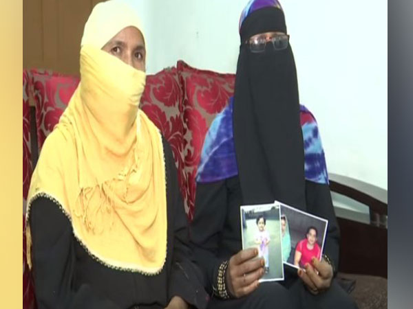 Nazma Begum (right) alleges that her daughter has been held captive by her husband in Indonesia. (Photo/ANI)