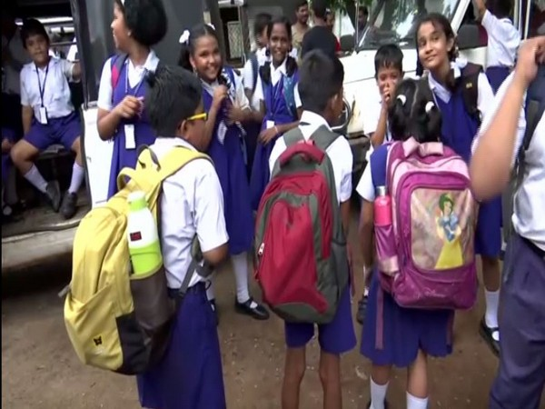 Odisha government to check on the weigh of school students' bags across different districts across the state. (Photo/ANI)