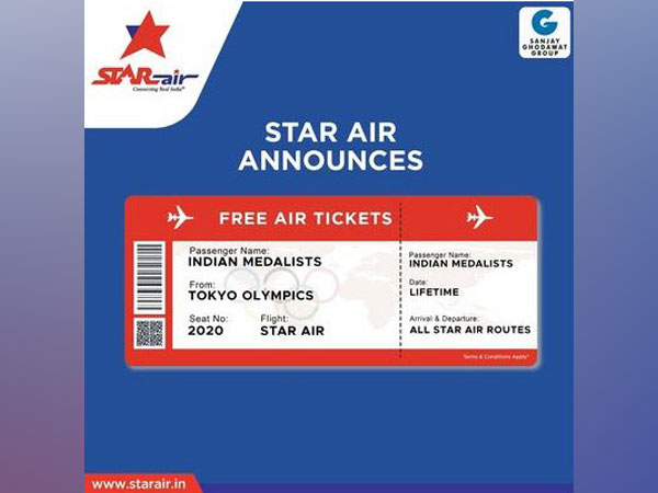Star Air announces free airline tickets for a lifetime to all the Indian medalists at Tokyo Olympics