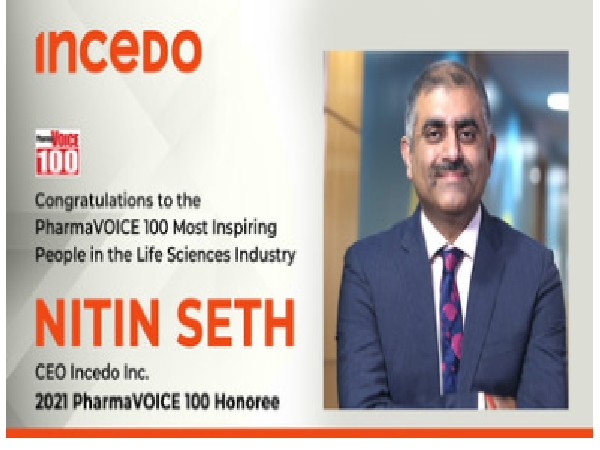 PharmaVOICE100 recognizes Incedo CEO Nitin Seth as a Life Sciences Industry Leader