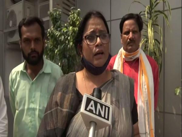 BJP MP Rekha Verma in Lucknow (Photo/ANI)