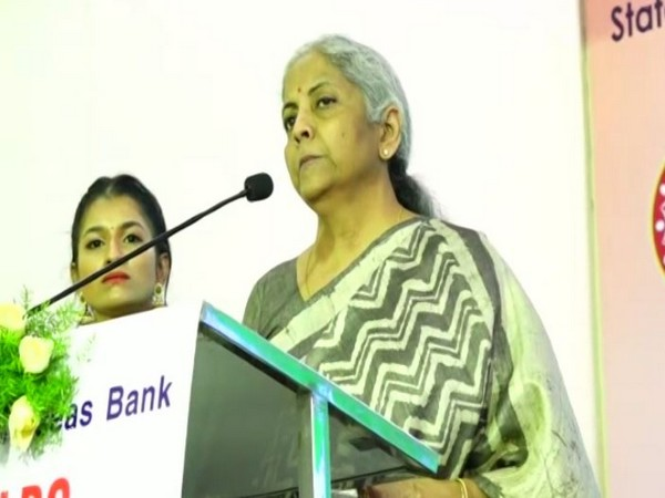 Union Minister Nirmala Sitharaman at Virudhnagar (Photo/ANI)