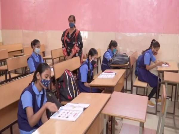Visuals from Shashkiya Girls Higher Secondary School, Bhopal (Photo/ANI)