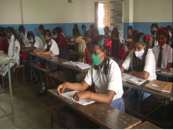 Visuals from St Joseph School, Ranchi (Photo/ANI)
