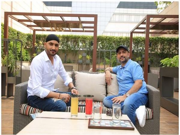 Harbhajan Singh and Producer Gaurav Bahirvani