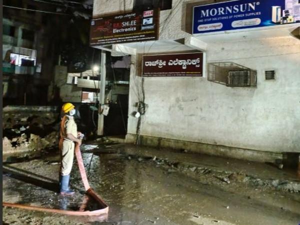 Visuals from Vinobha Nagar in Bengaluru (ANI)