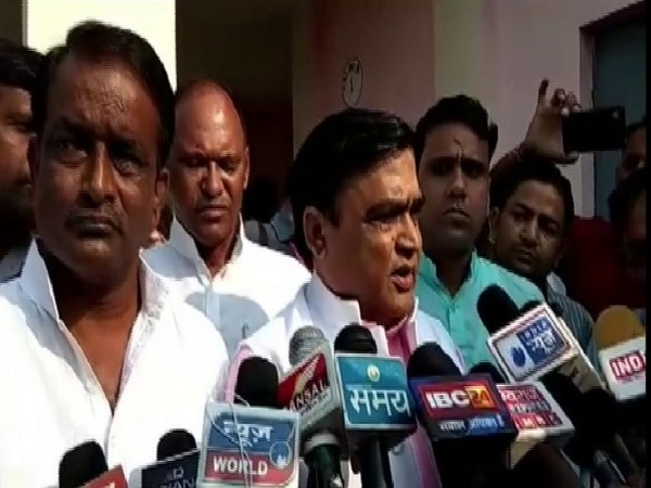 State Animal Husbandry Minister Lakhan Singh Yadav speaking to reporters in Gwalior on Friday. Photo/ANI