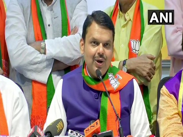 Chief Minister Devendra Fadnavis addressing the reporters in Mumbai on Thursday (Photo/ANI)