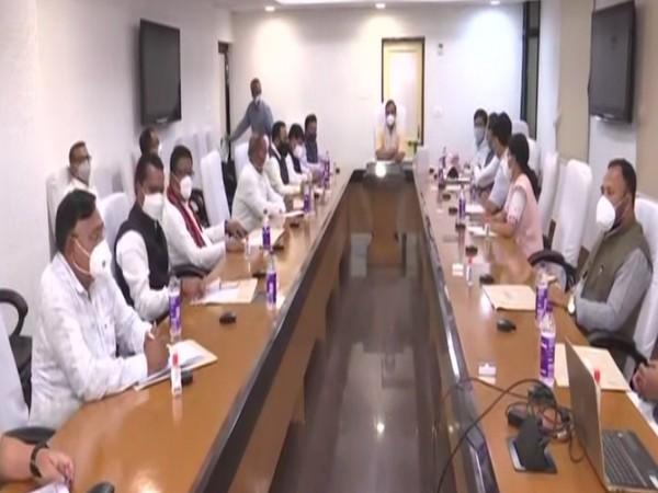 Assam cabinet meeting in Guwahati (Photo/ANI)