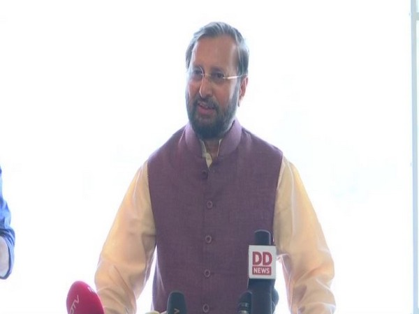 Union Minister Prakash Javadekar while addressing media on Tuesday (Photo/ANI)