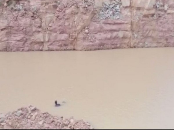Three children in Uttar Pradesh's Mirzapur died allegedly after drowning in a pit filled with water. [Photo/ANI]
