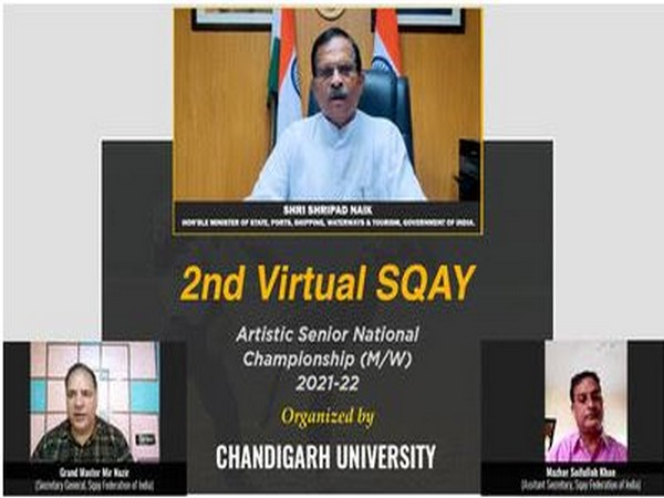 Union Minister of State Shripad Naik inaugurates 2nd Senior National Sqay Championship at Chandigarh University