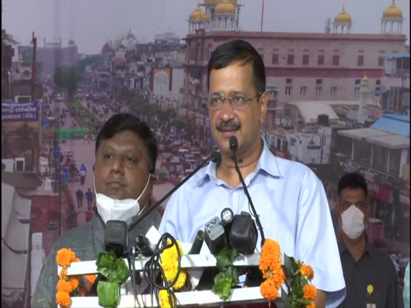 Arvind Kejriwal address to the public. (Photo/ANI)