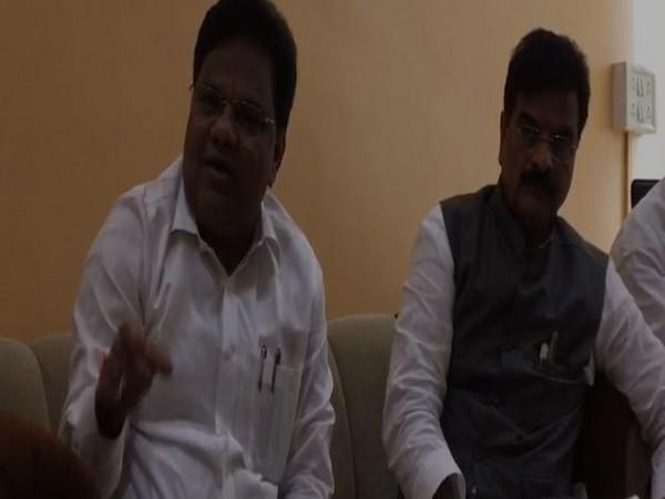 Maharashtra Water Conservation Minister Tanaji Sawant speaking to ANI in Mumbai . Photo/ANI