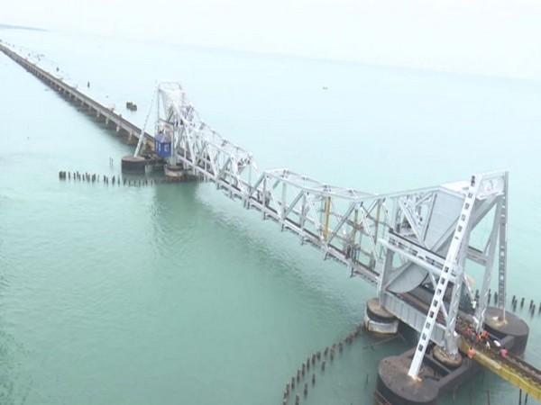 Pamban Railway bridge in Rameswaram (Photo/ANI)