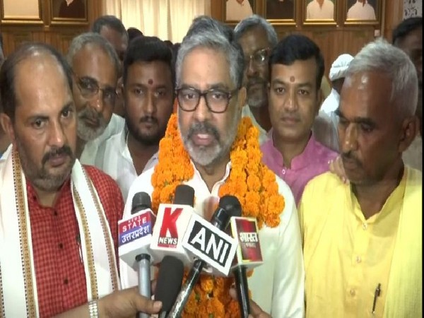 Neeraj Shekhar elected in Rajya Sabha in Uttar Pradesh on Tuesday (Photo/ANI)