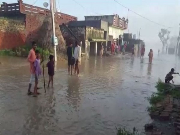 Several areas across Karnal, Haryana inundated as Yamuna River is flowing in spate. (Photo/ANI)