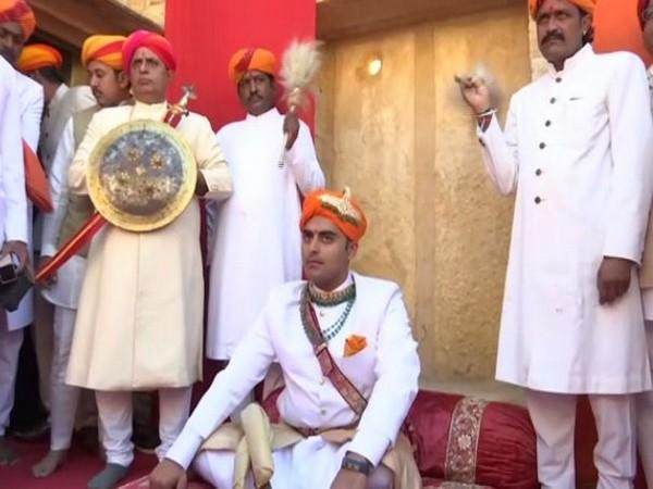 The coronation ceremony of the 44th Maharawal (King) of Jaisalmer State, Chaitanya Raj Singh (Photo/ANI)