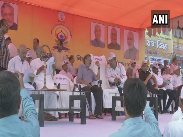 Deputy Chief Minister Sushil Kumar Modi participated in a yoga event on Friday