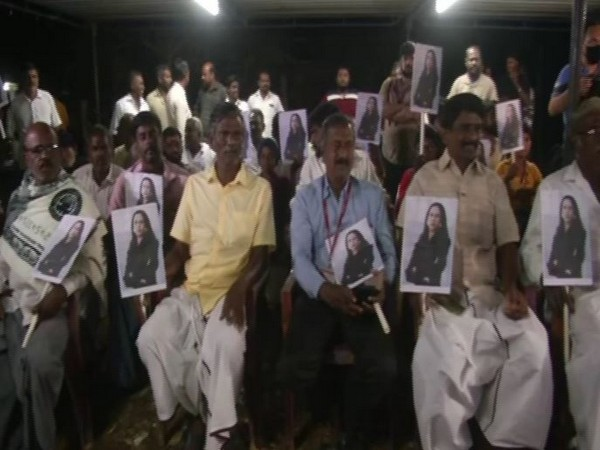Locals in Thulasendrapuram celebrate as Kamala Harris took oath as Vice-President of America (Photo/ANI)
