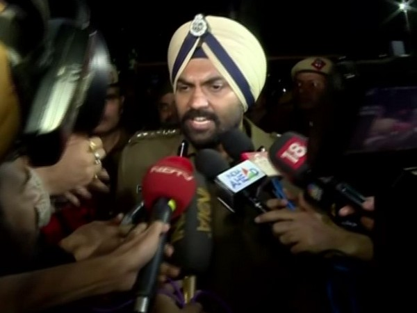 Delhi Police PRO MS Randhawa while speaking to the reporters on Monday (Photo/ANI)