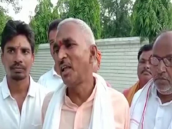 BJP MLA from Ballia, Surendra Singh speaking to reporters on Tuesday (Photo/ANI)