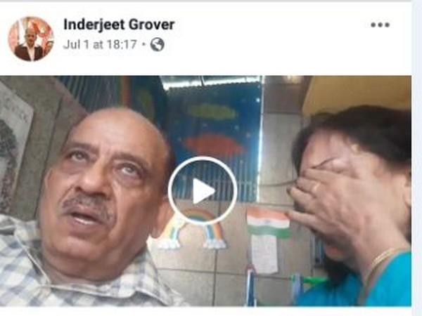 The elderly couple's post on Facebook (Photo/Facebook)