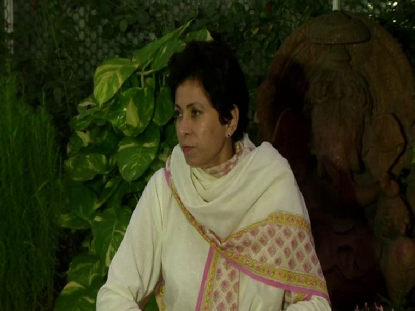 Haryna Congress chief Kumari Selja talking to reporters in New Delhi on Friday. Photo/ANI
