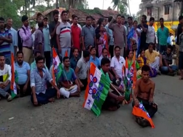 Locals staged a protest in West Bengal's East Midnapore district (Photo/ANI)