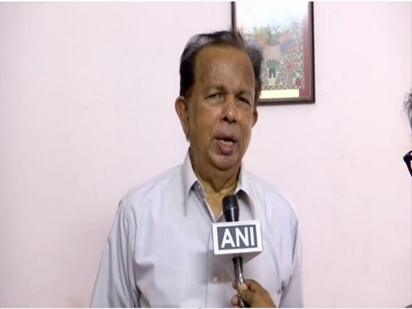 Former ISRO chairman G Madhavan Nair speaks to ANI in Thiruvananthapuram on Friday. [Photo/ANI]
