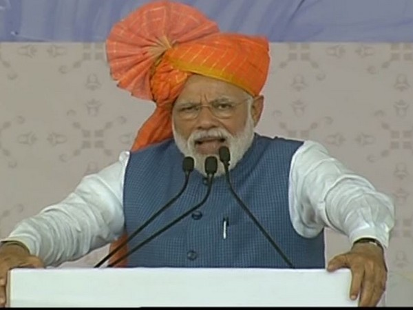 Prime Minister Narendra Modi addressing a rally in Ahemdabad, Gujrat on Tuesday. (Photo/ANI)