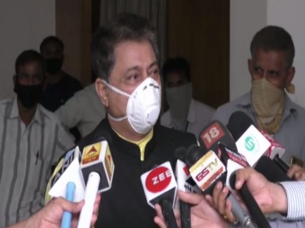 Rajendra Trivedi, Gujarat Assembly Speaker while speaking to reporters. (Photo/ANI)