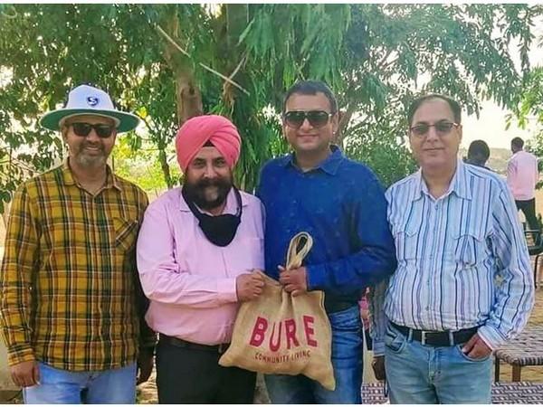 (Left to right ) Munishwar, Prof. Avinash Singh, Touqeer, and Pankaj Verma