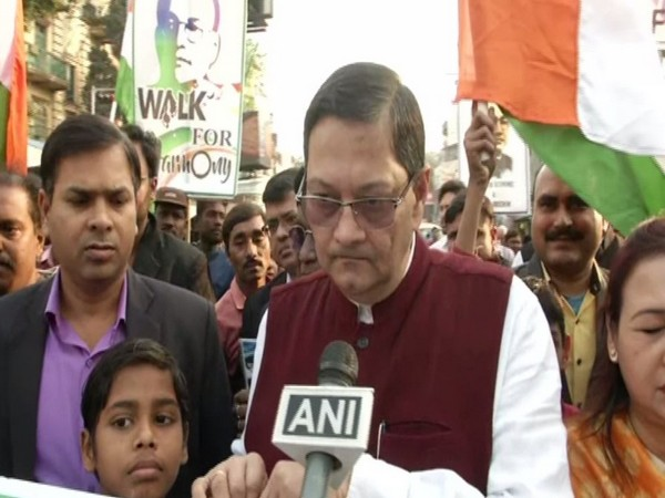 West Bengal BJP vice-president Chandra Kumar Bose while speaking to ANI on Tuesday (Photo/ANI)