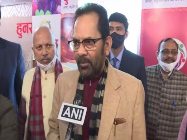 Union Minister Mukhtar Abbas Naqvi speaking to ANI.