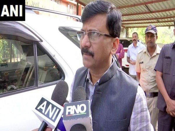 Shiv Sena leader Sanjay Raut while speaking to the reporters in Mumbai on Tuesday (Photo/ANI)
