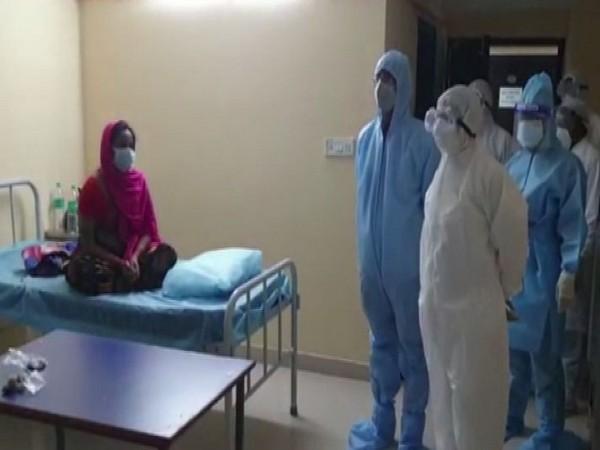 Telangana Health Minister Eatala Rajender inspected TIMS (Photo/ANI)