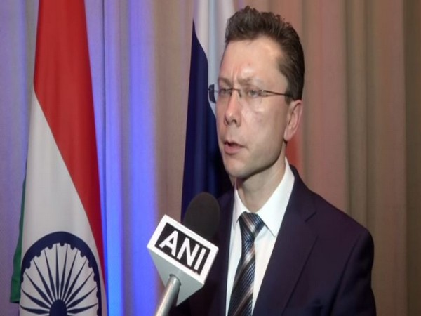 Russian Deputy Ambassador Roman Babushkin speaking to ANI on Monday in New Delhi. Photo/ANI