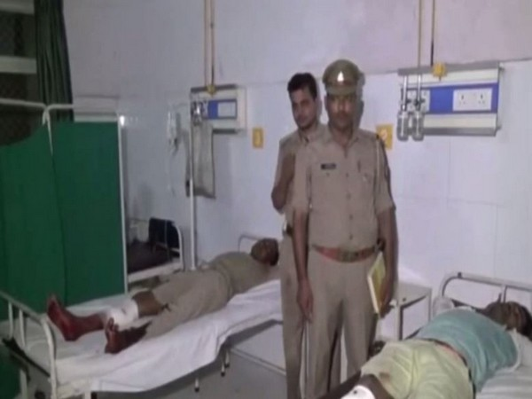 Contract killers at a hospital in Moradabad for the treatment. [Photo/ANI]