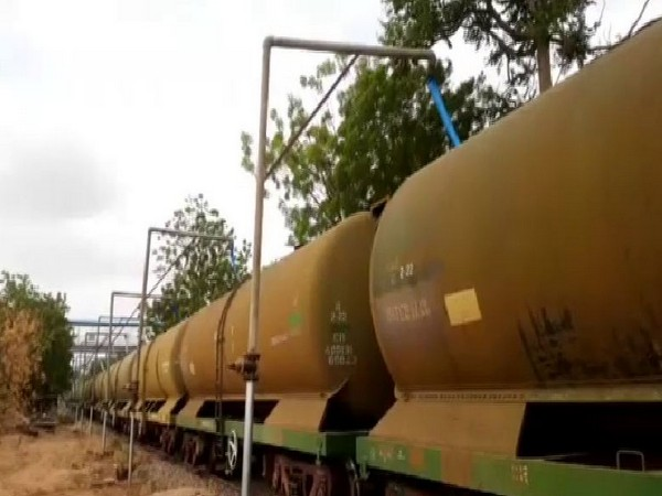A train carrying water to drought-hit Pali District in Rajasthan will leave from Jodhpur on Thursday (Photo/ANI)