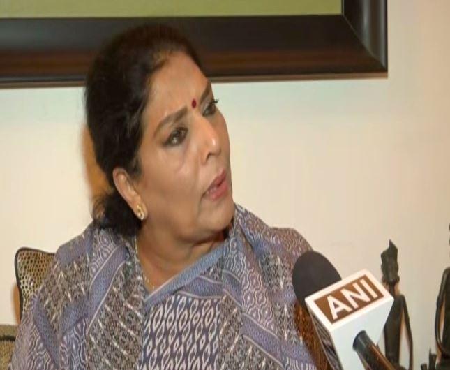 Congress leader Renuka Chowdhury speaking to ANI in New Delhi on Sunday. Photo/ANI