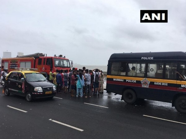 Two people drowned at Marine Drive, rescue operation is underway (Photo/ANI)
