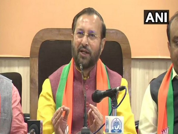 Union Minister Prakash Javadekar while speaking to reporters on Saturday. (Photo/ANI)